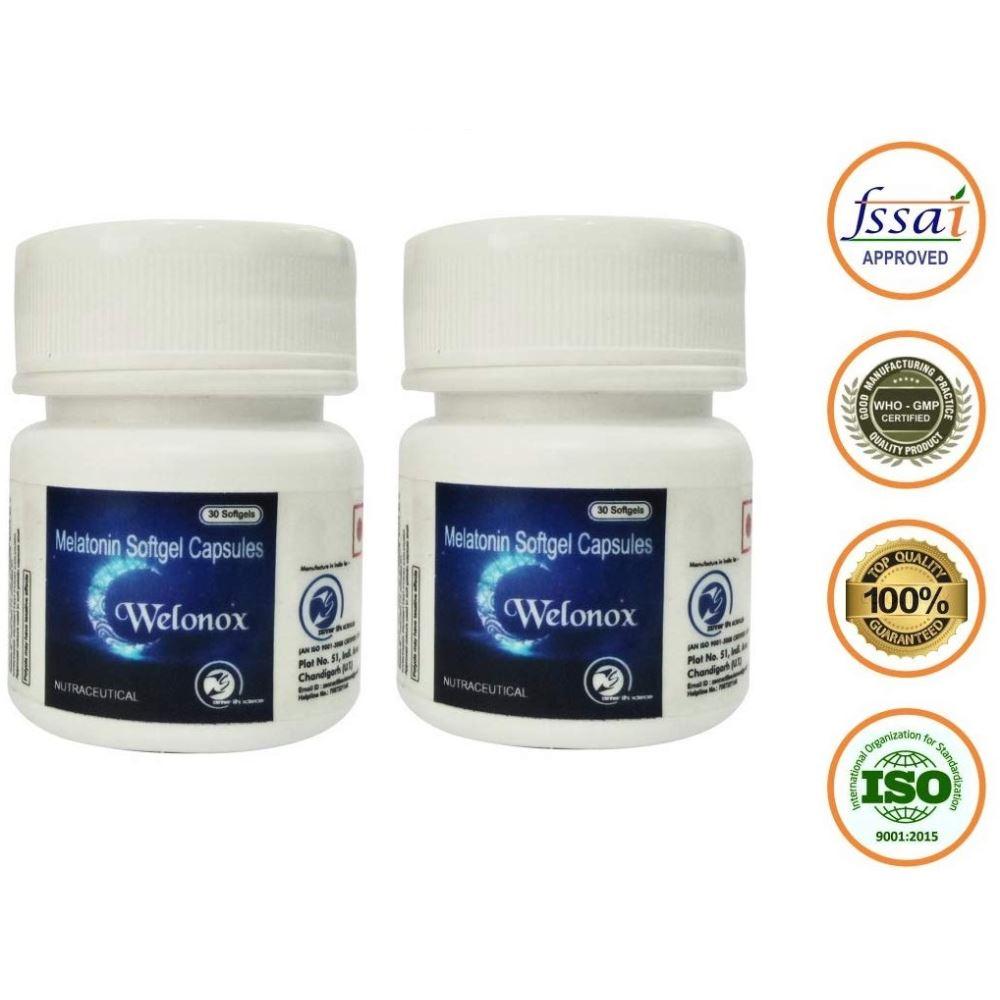 Welonox Sleeping Pills - Sleeping Tablets For Men & Women - Non Habbit (30caps, Pack of 2)