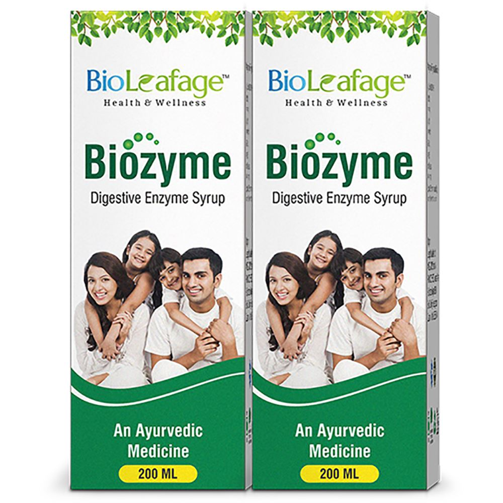 Bioleafage Biozyme Digestive Enzyme Syrup (200ml, Pack of 2)