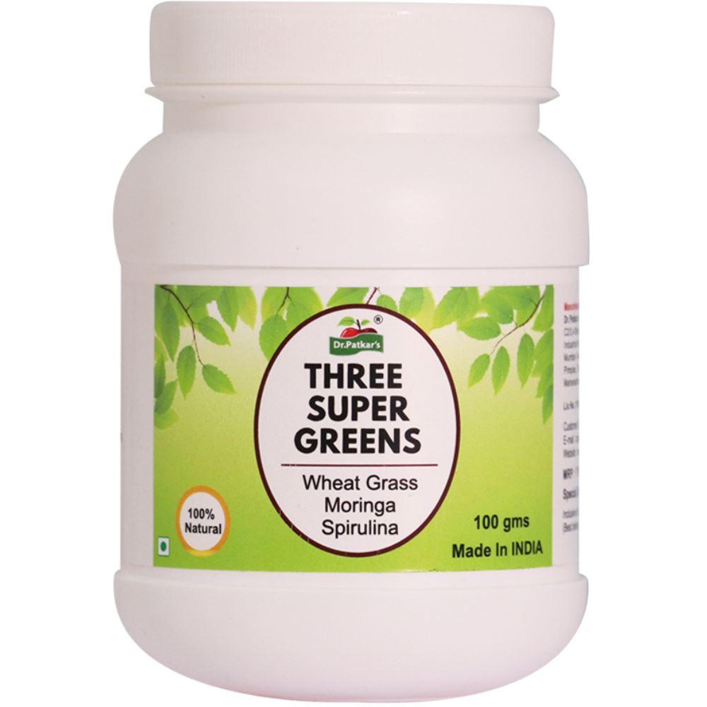 Dr. Patkars Three Super Green (Moringa, Spirulina and Wheatgrass) Powder (100g)