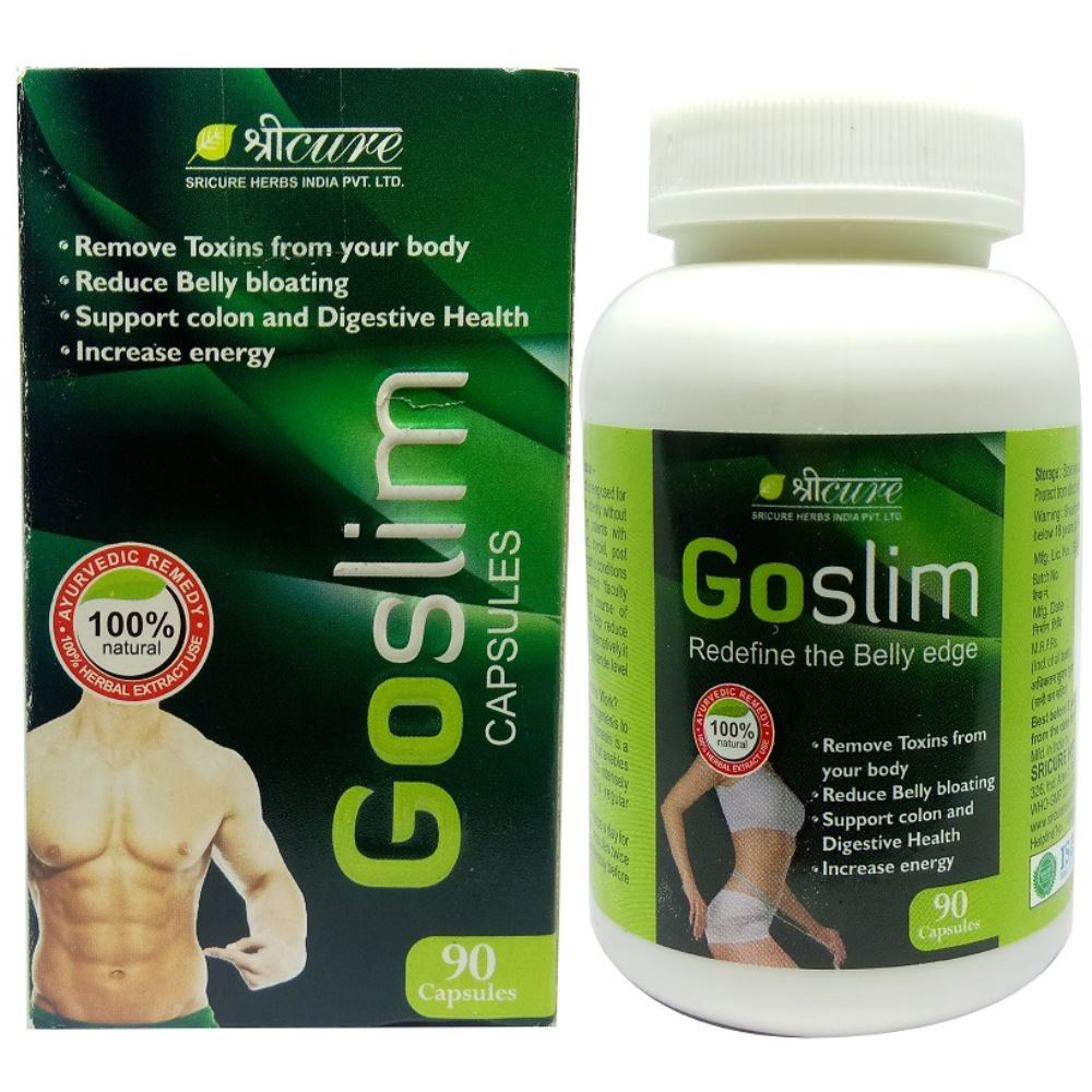 Sricure Go Slim Capsules For Weight Loss - Weight Reduce Capsules - Fat Burner (90caps)