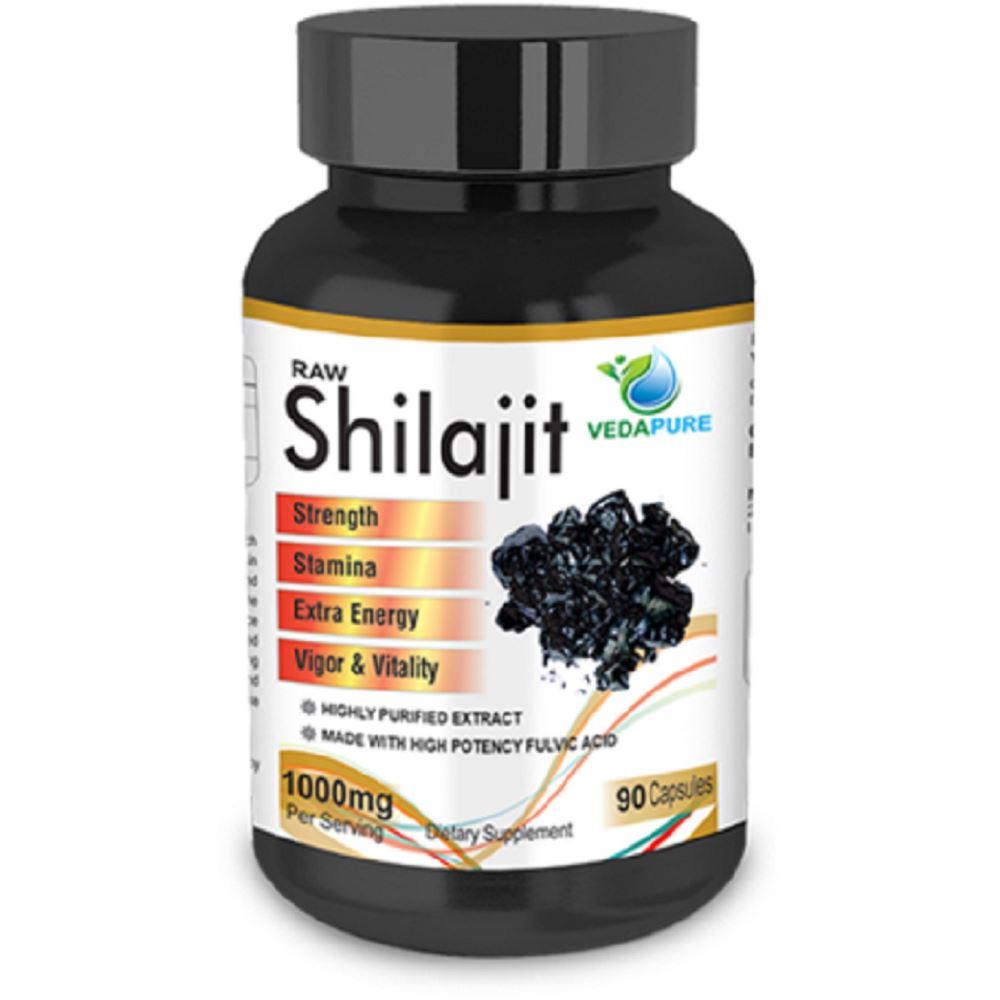 Vedapure Naturals Raw Shilajit High Potency Fulvic Acid Capsule (90caps)