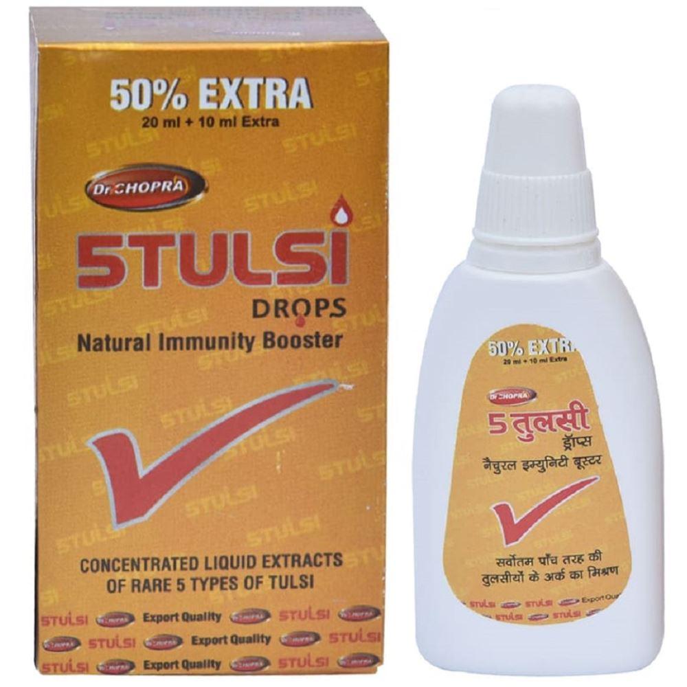 Dr Chopra 5Tulsi Drop (30ml, Pack of 2)