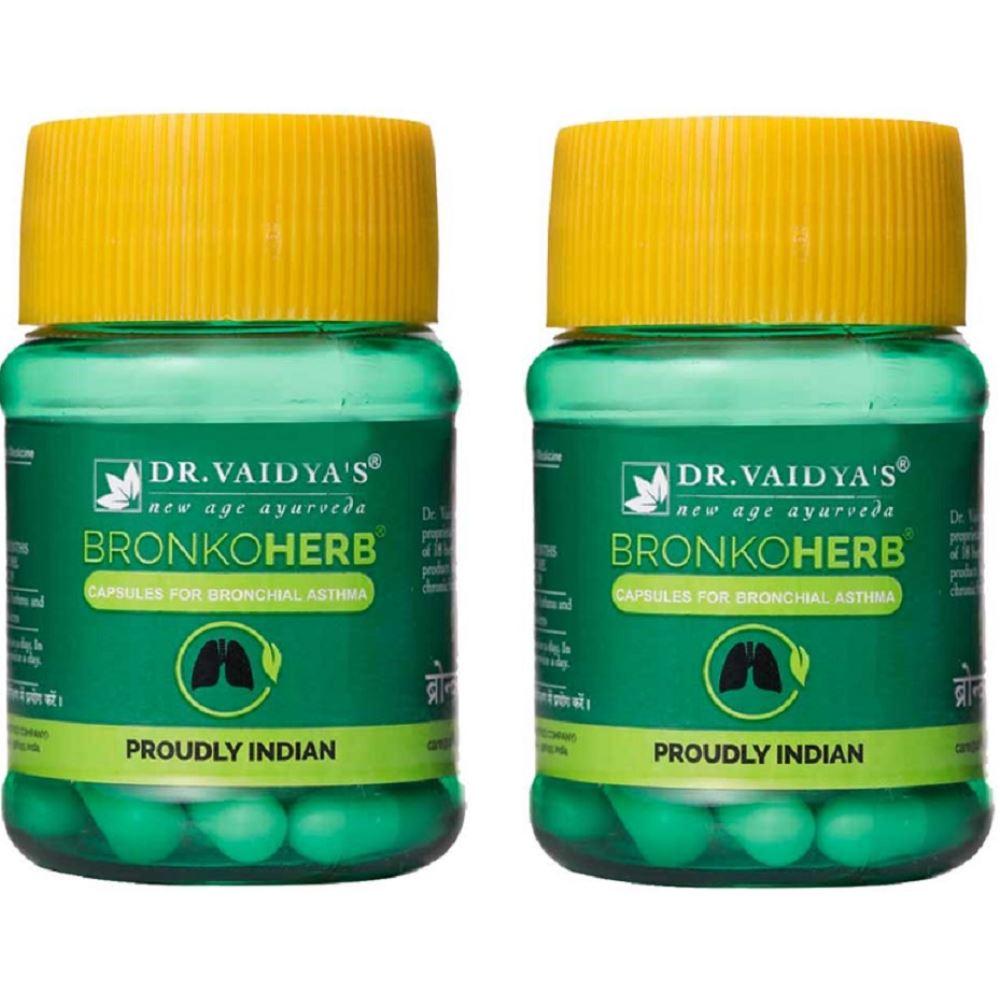Dr. Vaidyas Bronkoherb Capsules (30caps, Pack of 2)