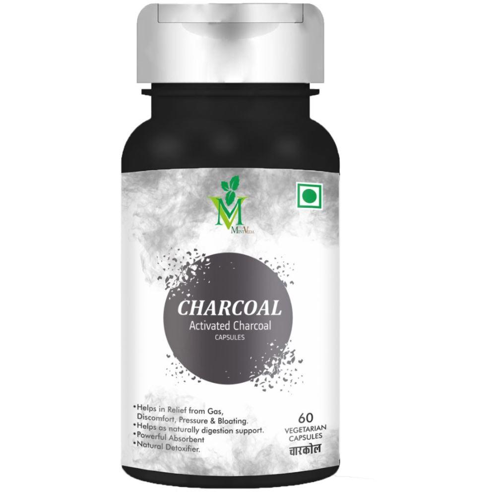 Mint Veda Acivated Charcoal Veg Capsules  (60caps)