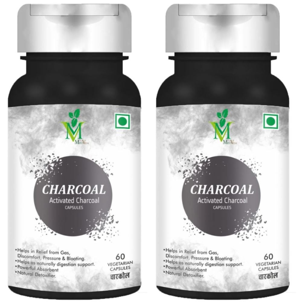 Mint Veda Acivated Charcoal Veg Capsules  (60caps, Pack of 2)