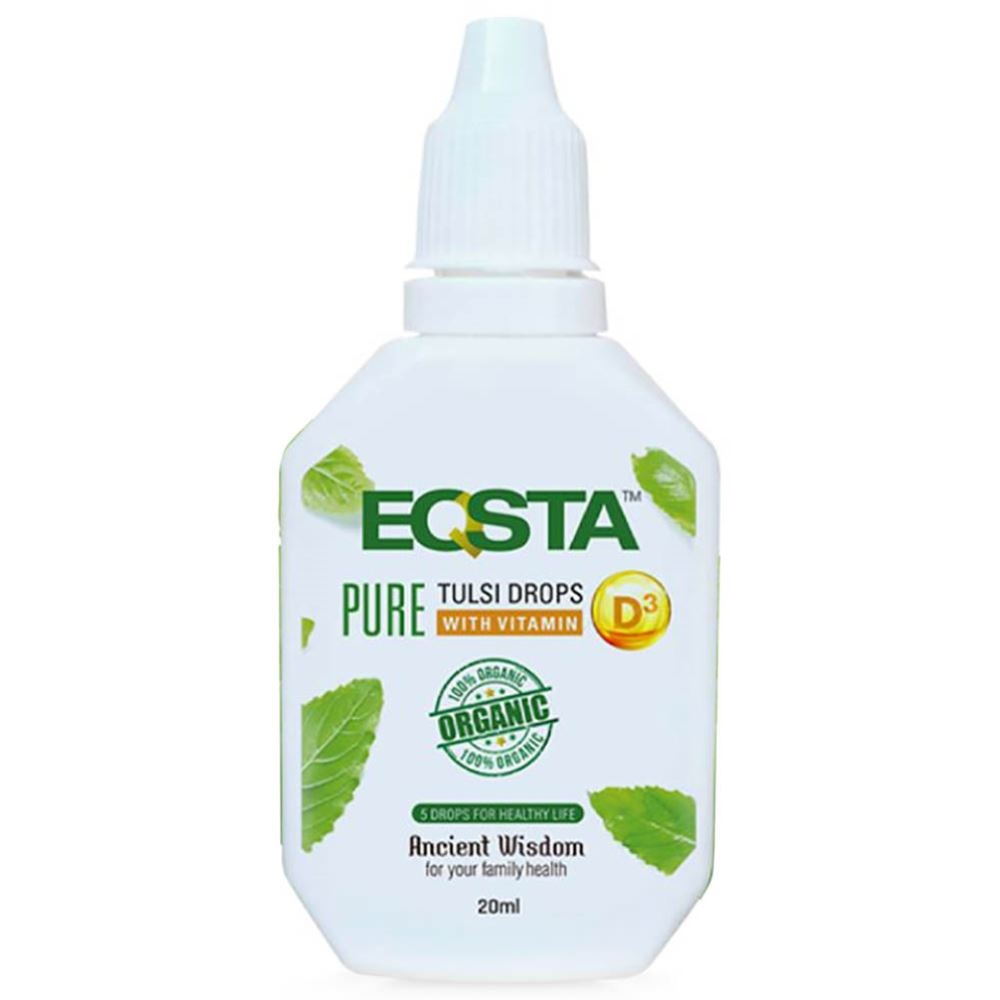 Eqsta Pure Certified Organic Punch Tulsi drops with Vitamin D3 (20ml)