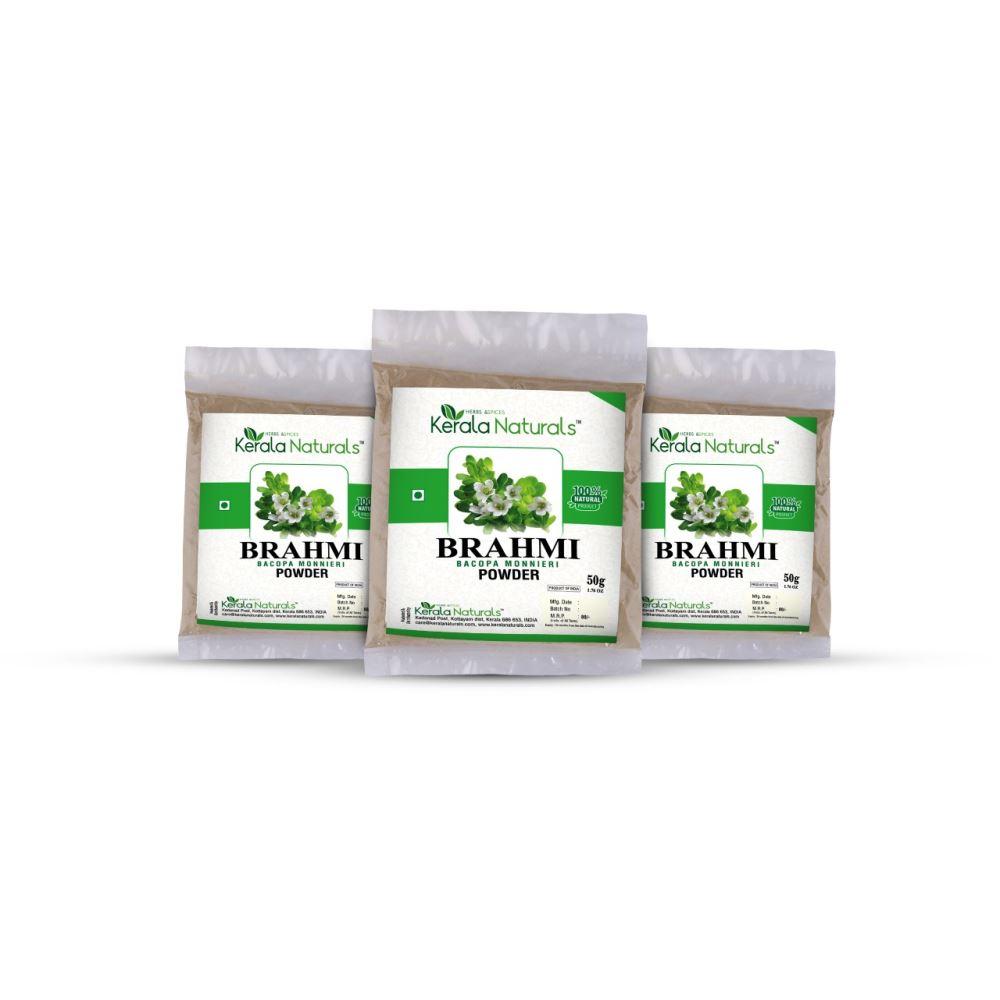 Kerala Naturals Brahmi Powder (50g, Pack of 3)