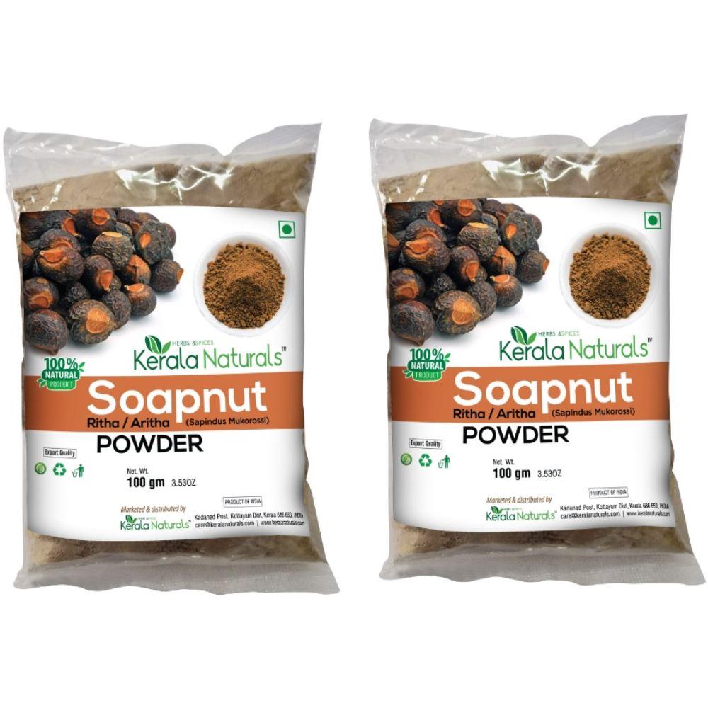 Kerala Naturals Aritha Powder (Soapnut Powder) (100g, Pack of 2)