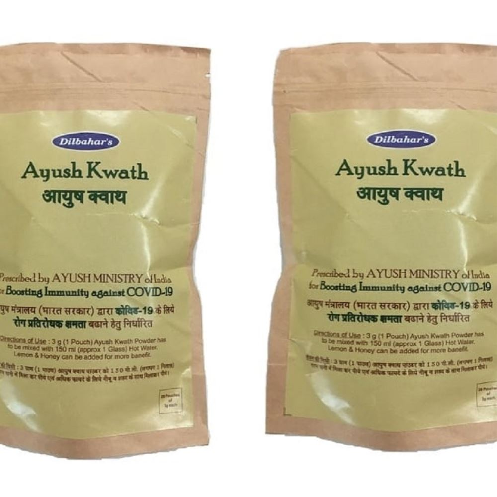 Dilbahar  Ayush Kwath Contains 20 Pouches (3g, Pack of 2)