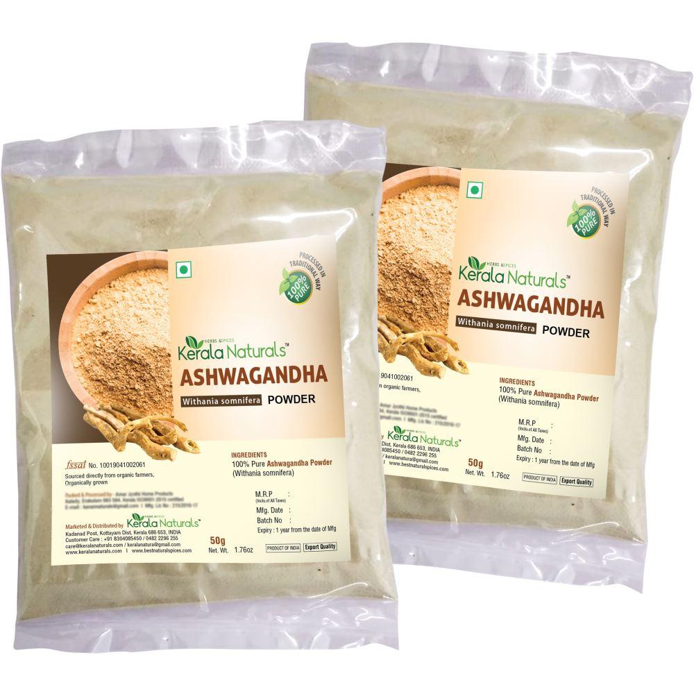 Kerala Naturals Ashwagandha Powder (50g, Pack of 2)