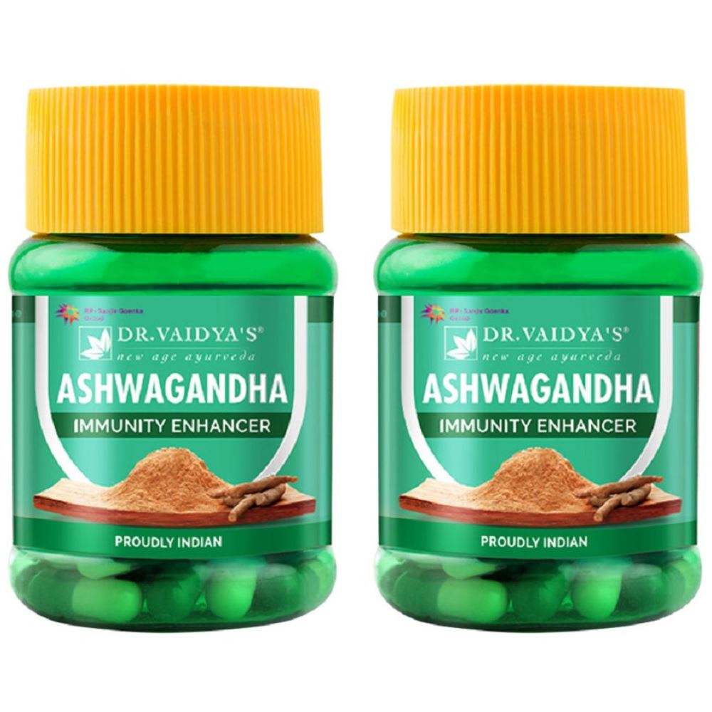 Dr. Vaidyas Ashwagandha Capsules (30caps, Pack of 2)