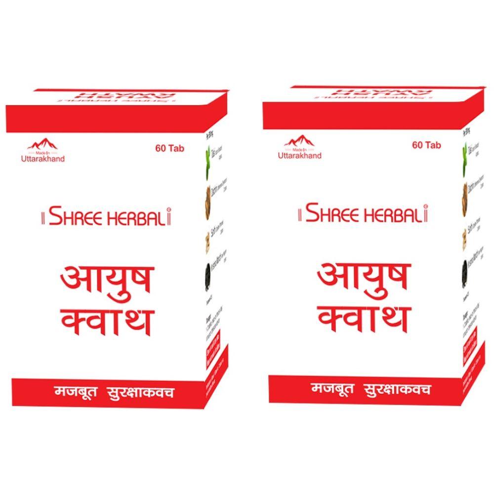Shree Herbal Ayush Kwath Tablet (60tab, Pack of 2)