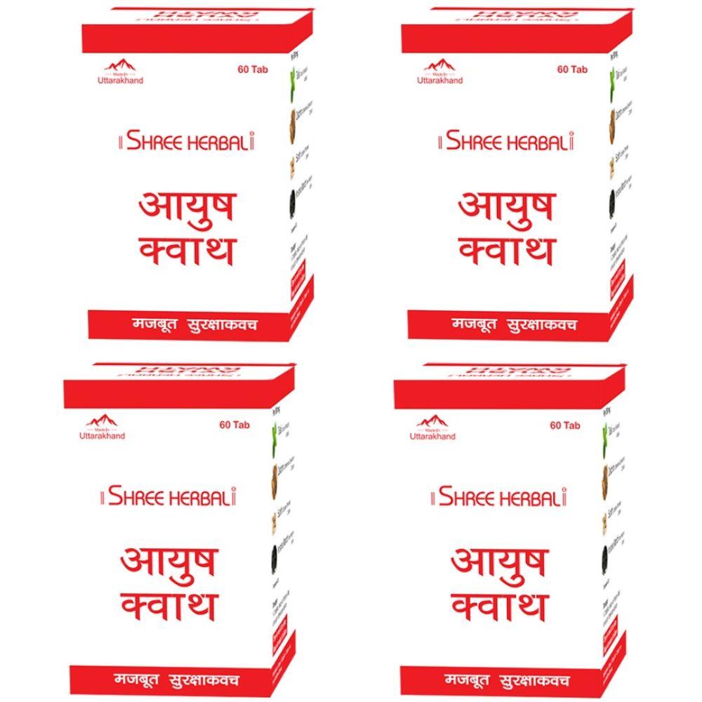 Shree Herbal Ayush Kwath Tablet (60tab, Pack of 4)