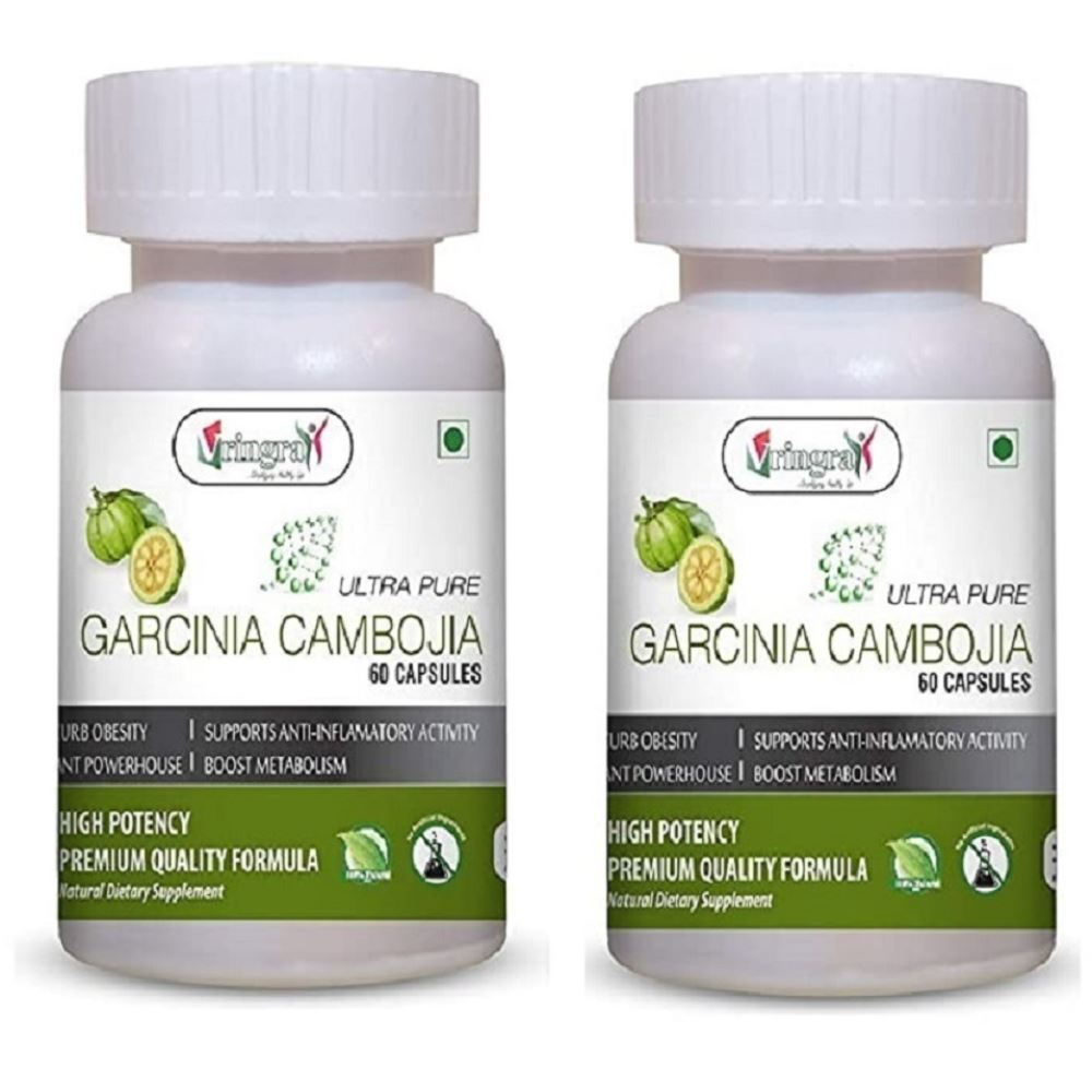 Vringra Garcinia Cambojia Powder Capsules (60caps, Pack of 2)