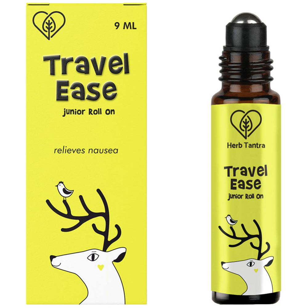 Herb Tantra Travel Ease Junior Kids Roll On For Motion Sickness And Nausea (9ml)