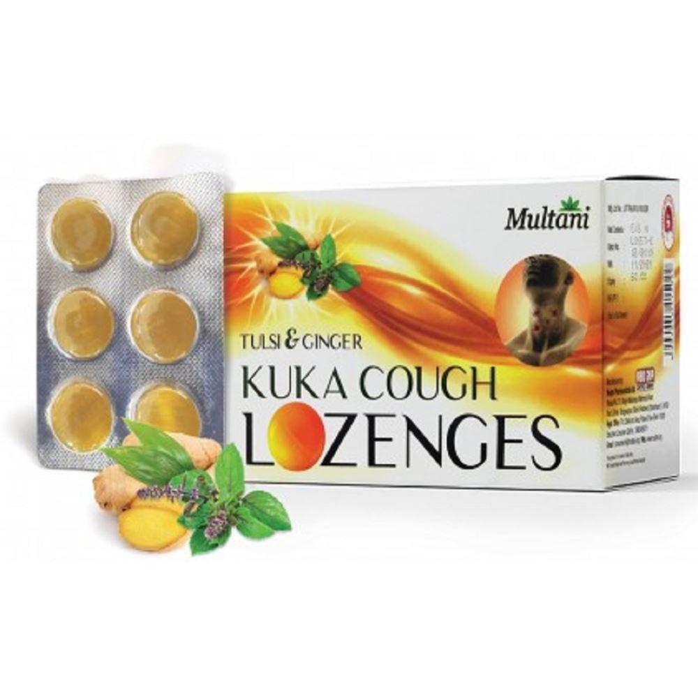 Multani Kuka Cough Lozenges Tulsi & Ginger (36pcs)