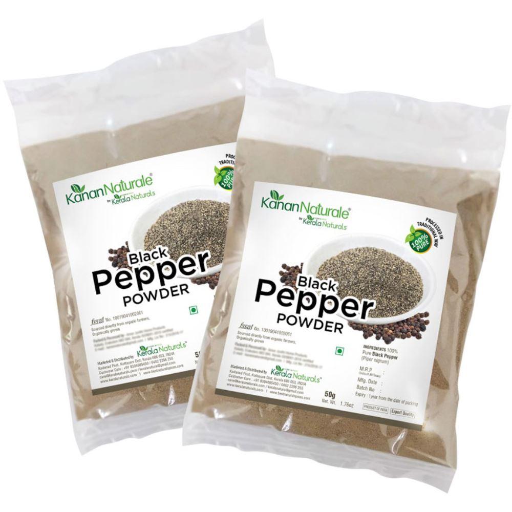 Kerala Naturals Black Pepper Powder (50g, Pack of 2)