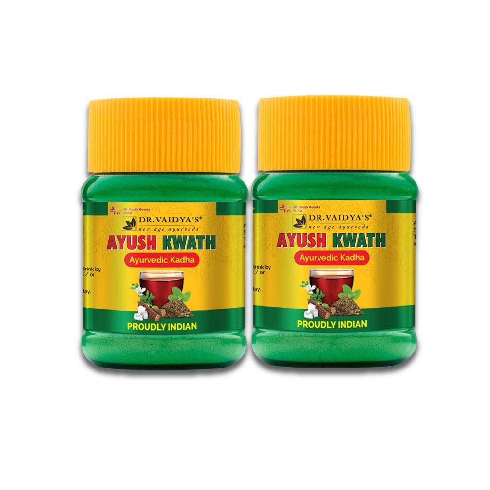 Dr. Vaidyas Ayush Kwath Ayurvedic Kadha Powder (50g, Pack of 2)