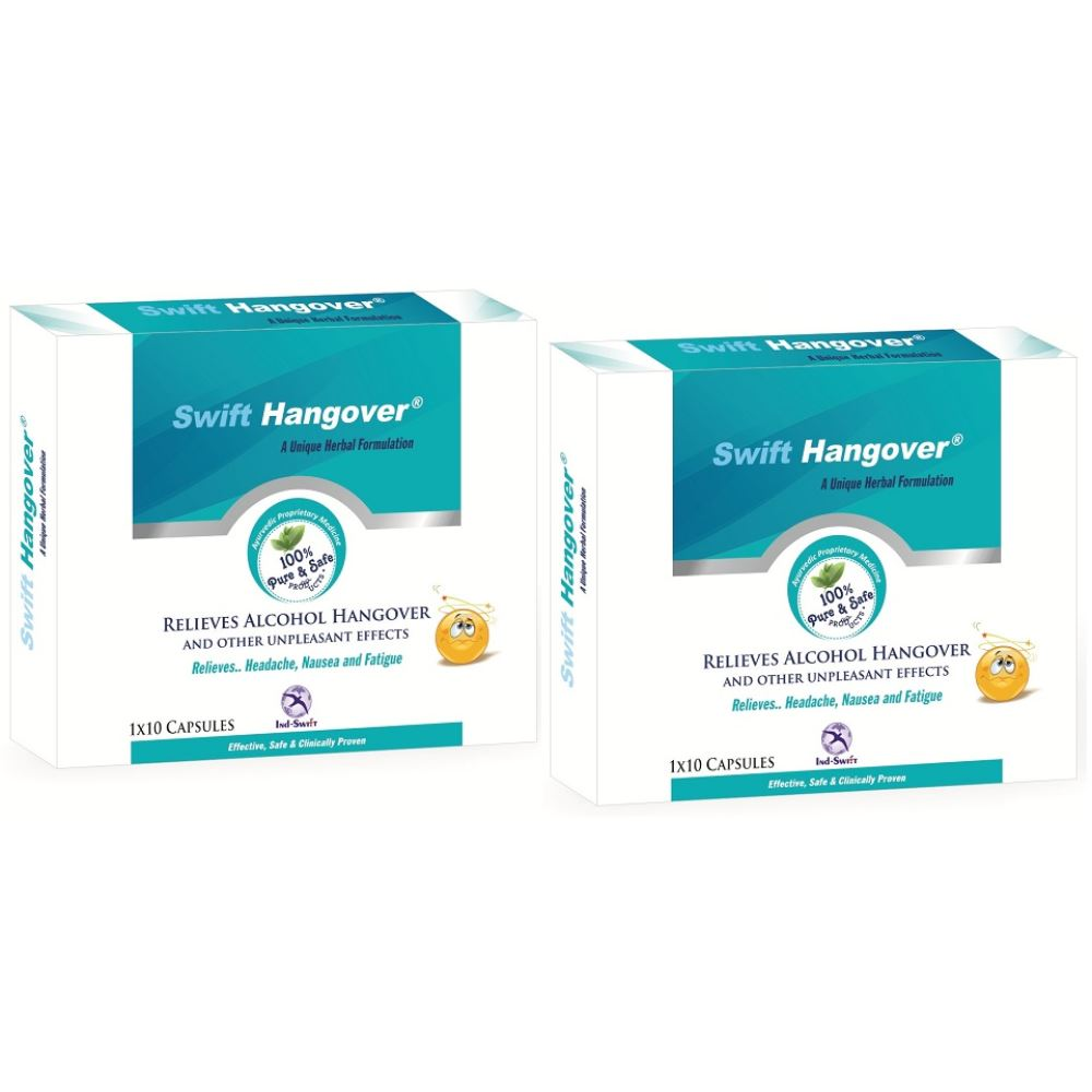 Ind Swift Hangover Capsules (10caps, Pack of 2)