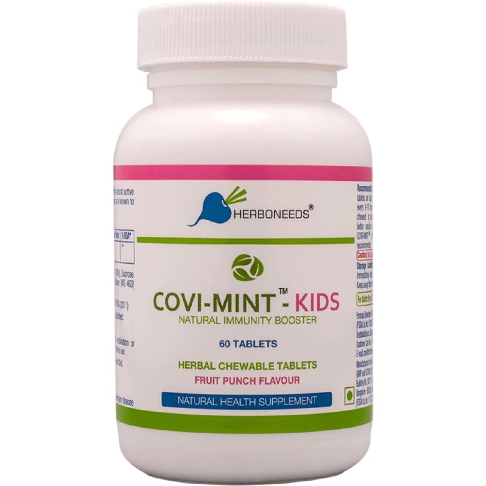 Herboneeds Covi Mint Natural Immunity Booster Kids (60tab)