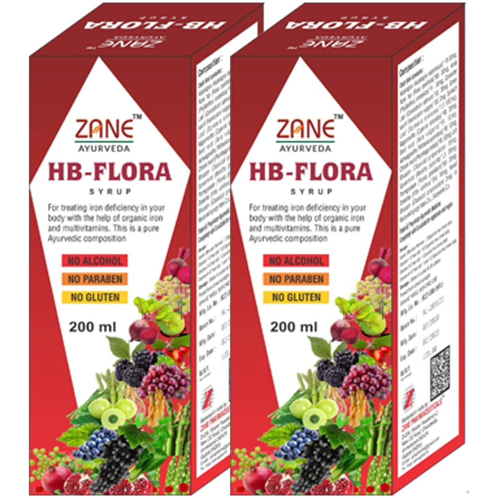 Zane Hb Flora Syrup (200ml, Pack of 2)