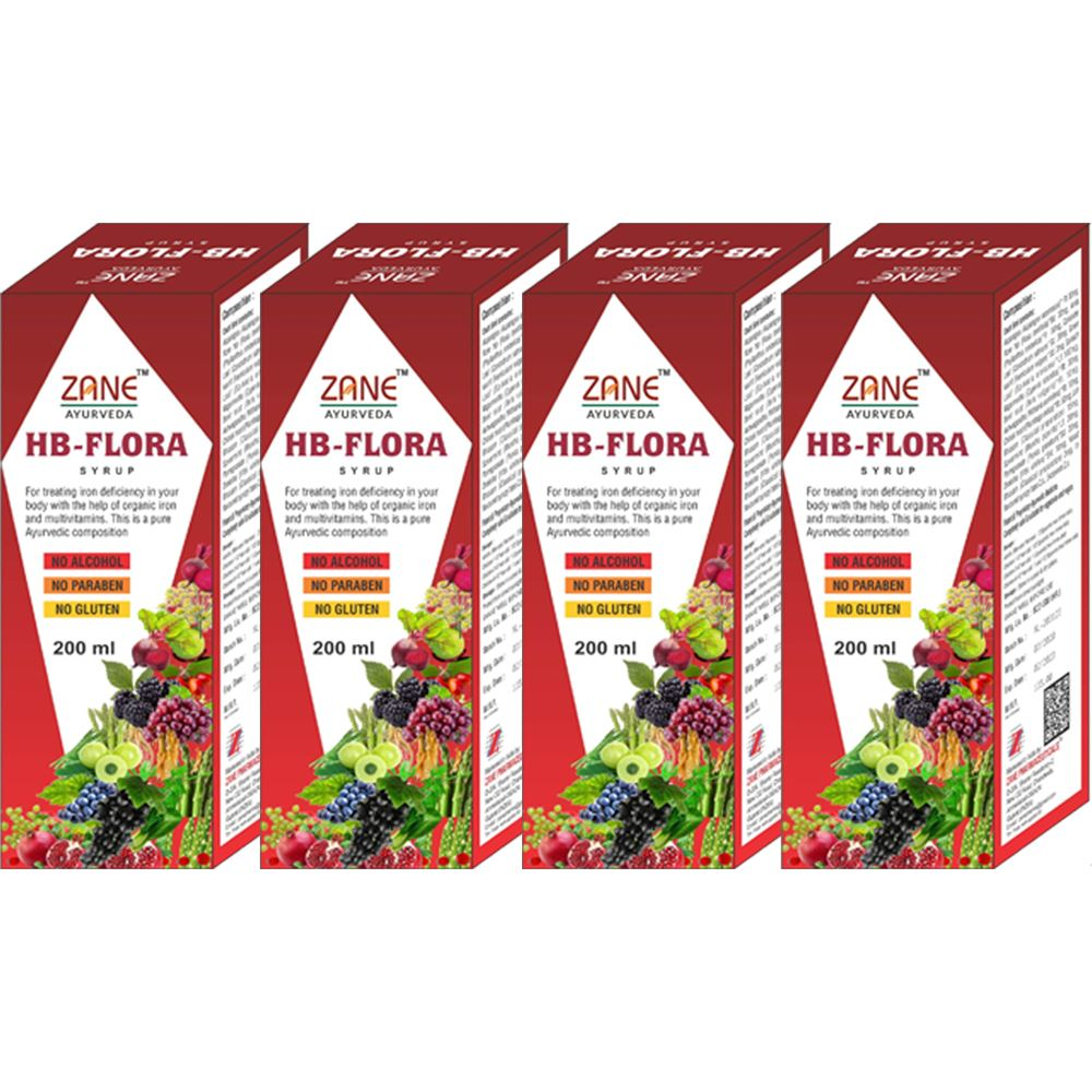Zane Hb Flora Syrup (200ml, Pack of 4)