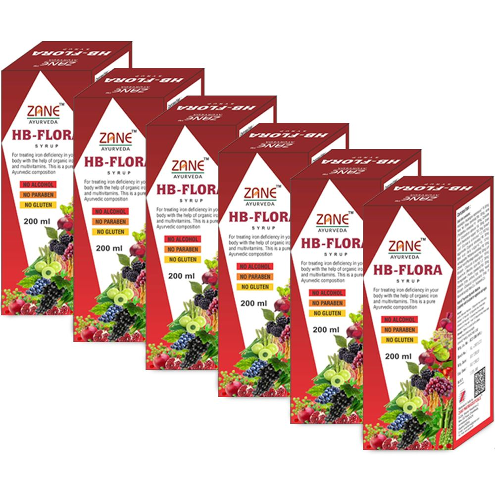 Zane Hb Flora Syrup (200ml, Pack of 6)