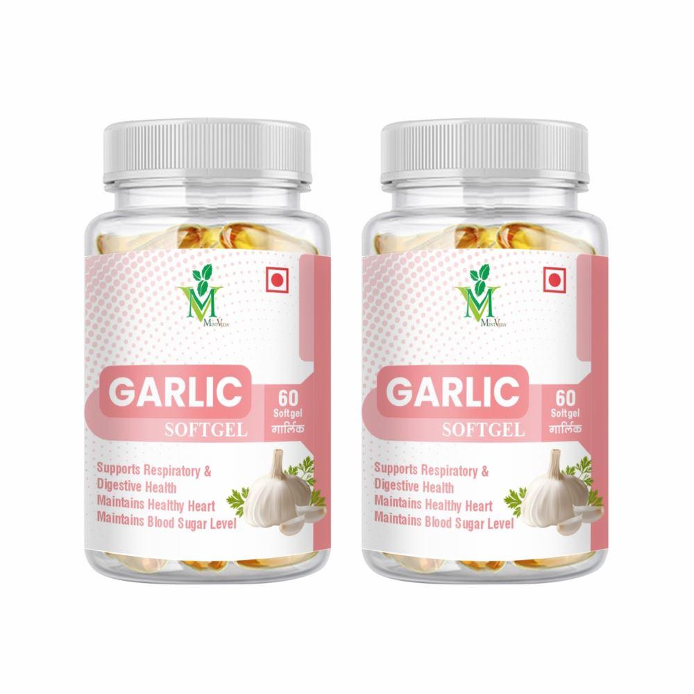 Mint Veda Garlic Softgel Capsule (60caps, Pack of 2)