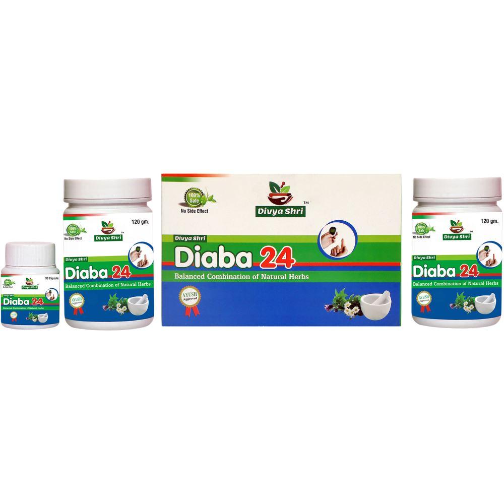 Divya Shri Diaba 24 Ayurvedic Medicine For Diabetes (1Pack)
