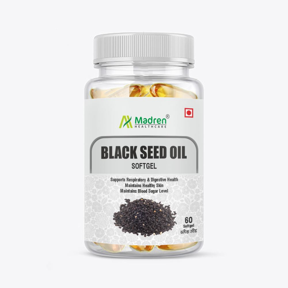 Madren Healthcare Black Seed (Kalaunji) Oil 500Mg Softgel Capsule (60caps)