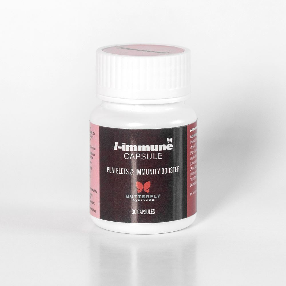 Butterfly Ayurveda I-Immune Capsules (Platelets and Immunity Booster) (30caps)