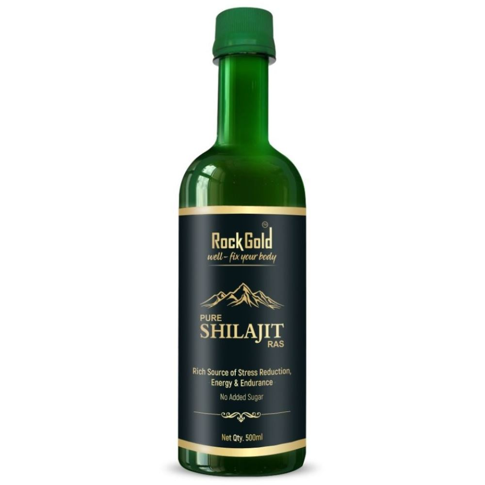 Rock Gold Pure Ayurvedic Shilajit/Shilajeet Juice (500ml)