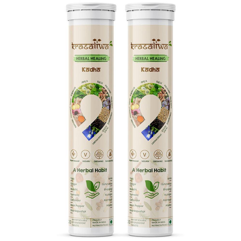 Krasaliwa Herbal Healing Kadha Natural Immunity Support Tablets (20tab, Pack of 2)