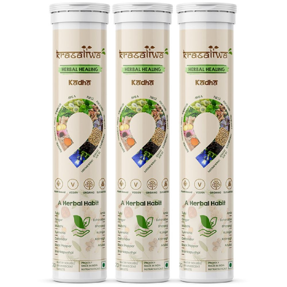 Krasaliwa Herbal Healing Kadha Natural Immunity Support Tablets (20tab, Pack of 3)