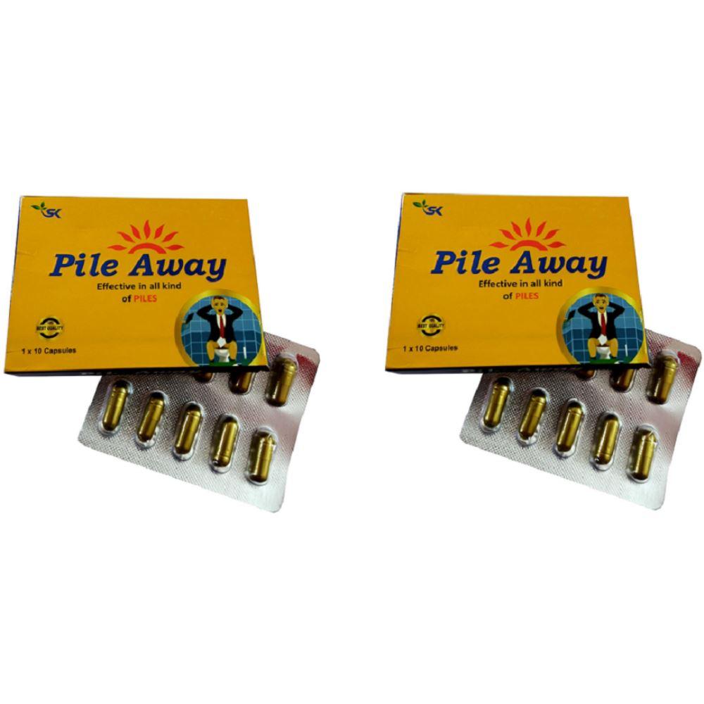 S K Pharma Pure Piles Away Capsules (10caps, Pack of 2)