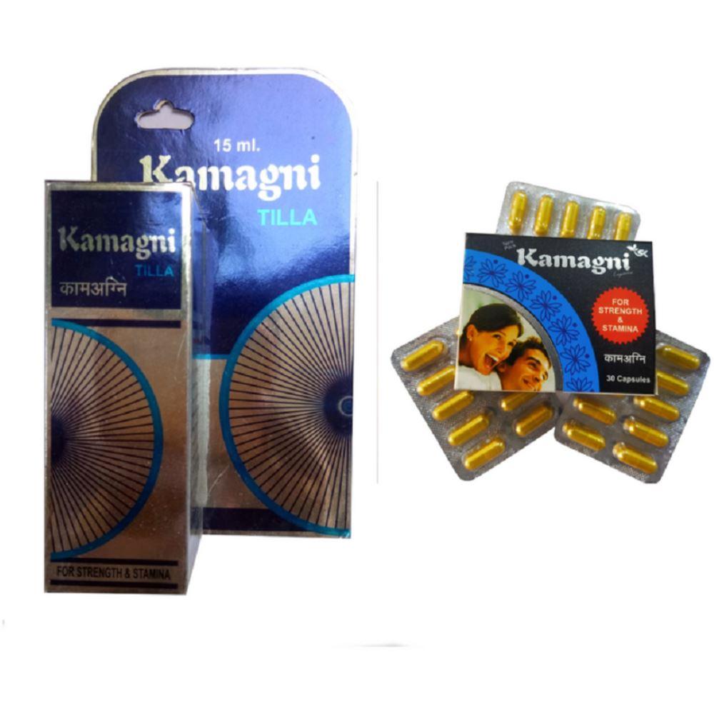 S K Pharma Kamagani Capsules & Oil Combo (1Pack)