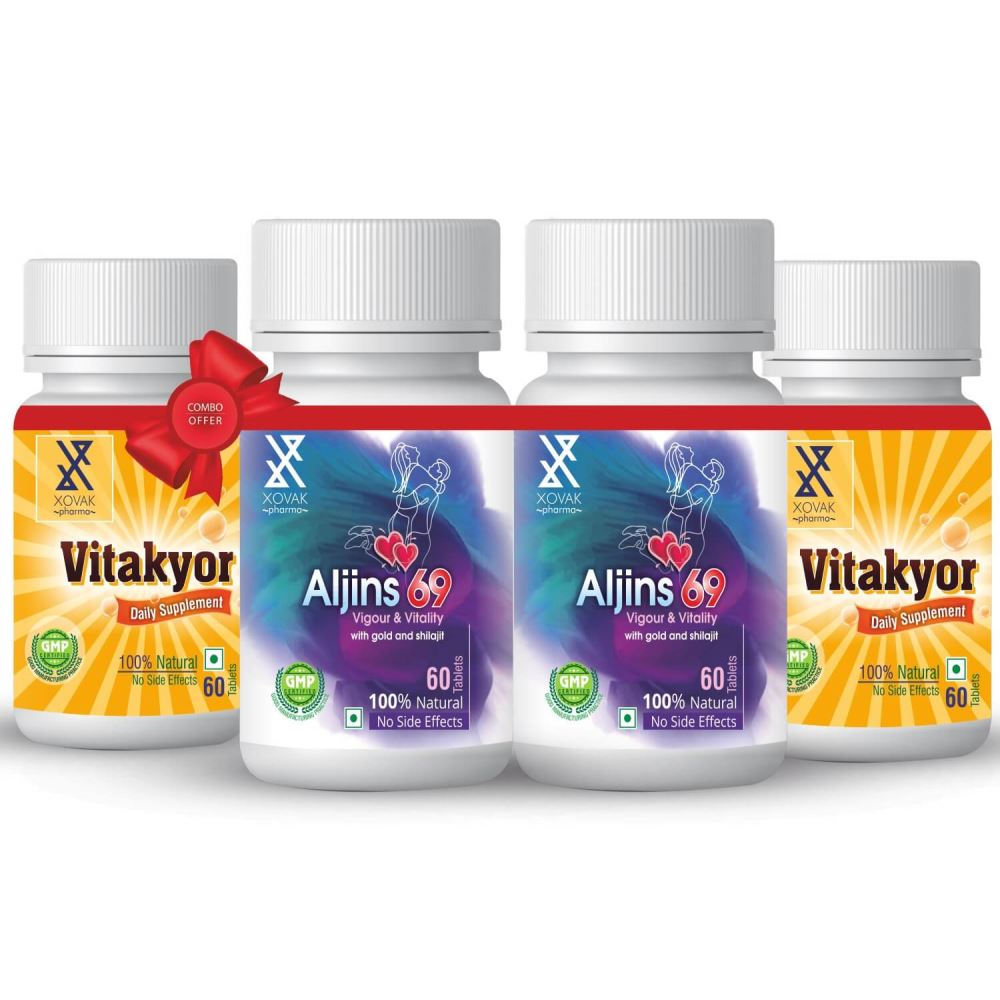 Xovak Pharma Aljins 69 Tablet (60Tab) + Vitakyor Tablet (60Tab) Combo Pack (1Pack, Pack of 2)
