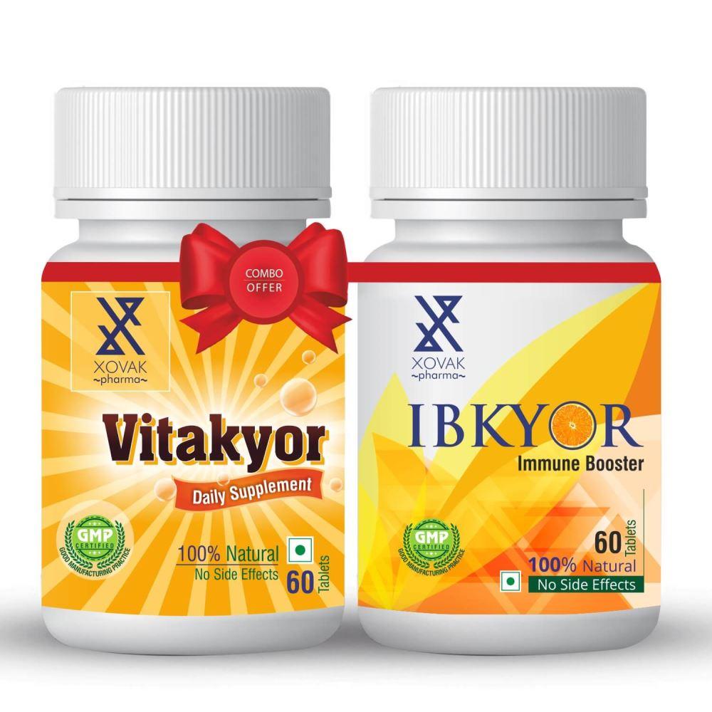 Xovak Pharma Ibkyor Tablets For Immunity Booster (60Tab) + Vitakyor Tablet (60Tab) Combo Pack (1Pack)