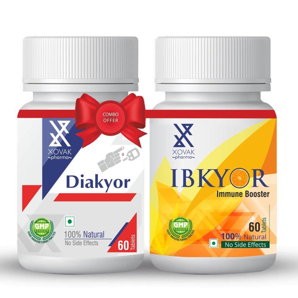 Xovak Pharma Diakyor Tablets (60Tab) + Ibkyor Tablets For Immunity Booster (60Tab) Combo Pack (1Pack)