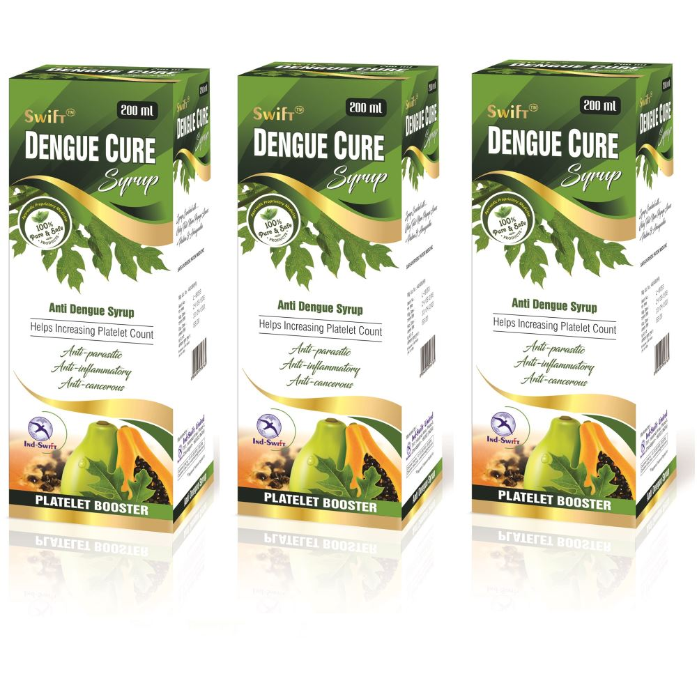 Ind Swift Dengue Cure Syrup (200ml, Pack of 3)
