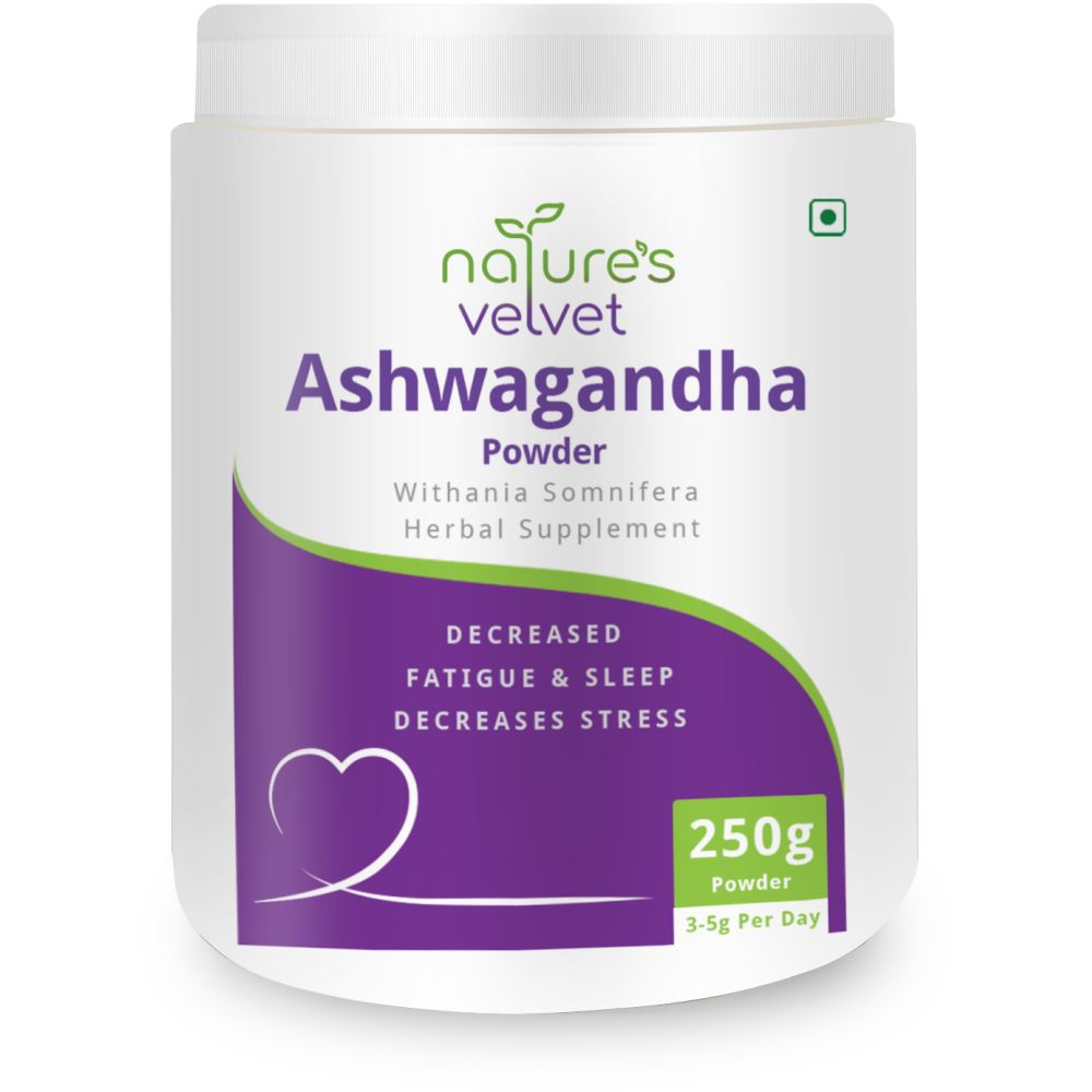 Natures Velvet Ashwagandha Powder Withania Somnifera (250g)