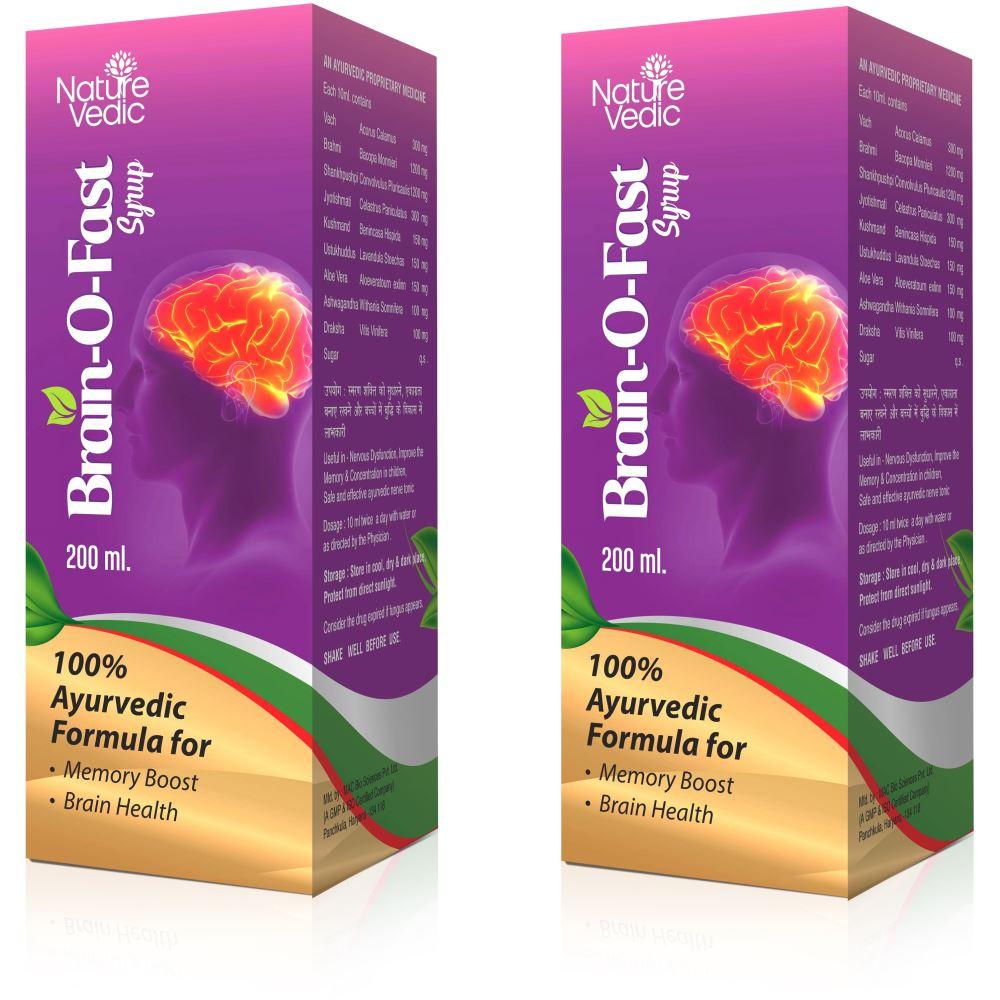 Nature Vedic Brainofast Syrup (200ml, Pack of 2)