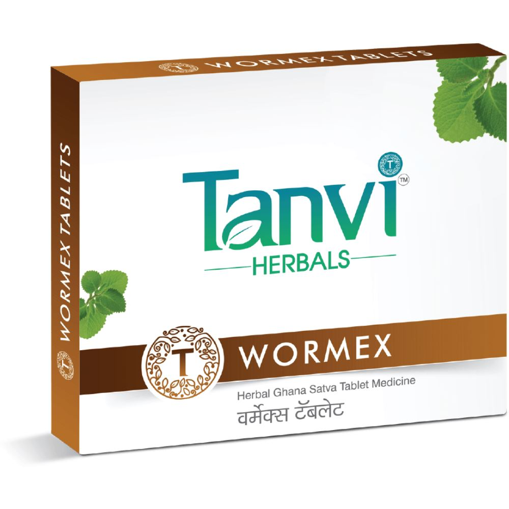 Tanvi Herbals Wormex Herbal Product (60tab)