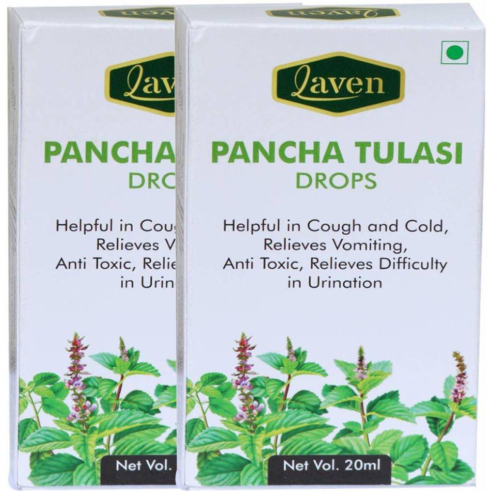 Laven Pancha Tulasi Drops (20ml, Pack of 2)