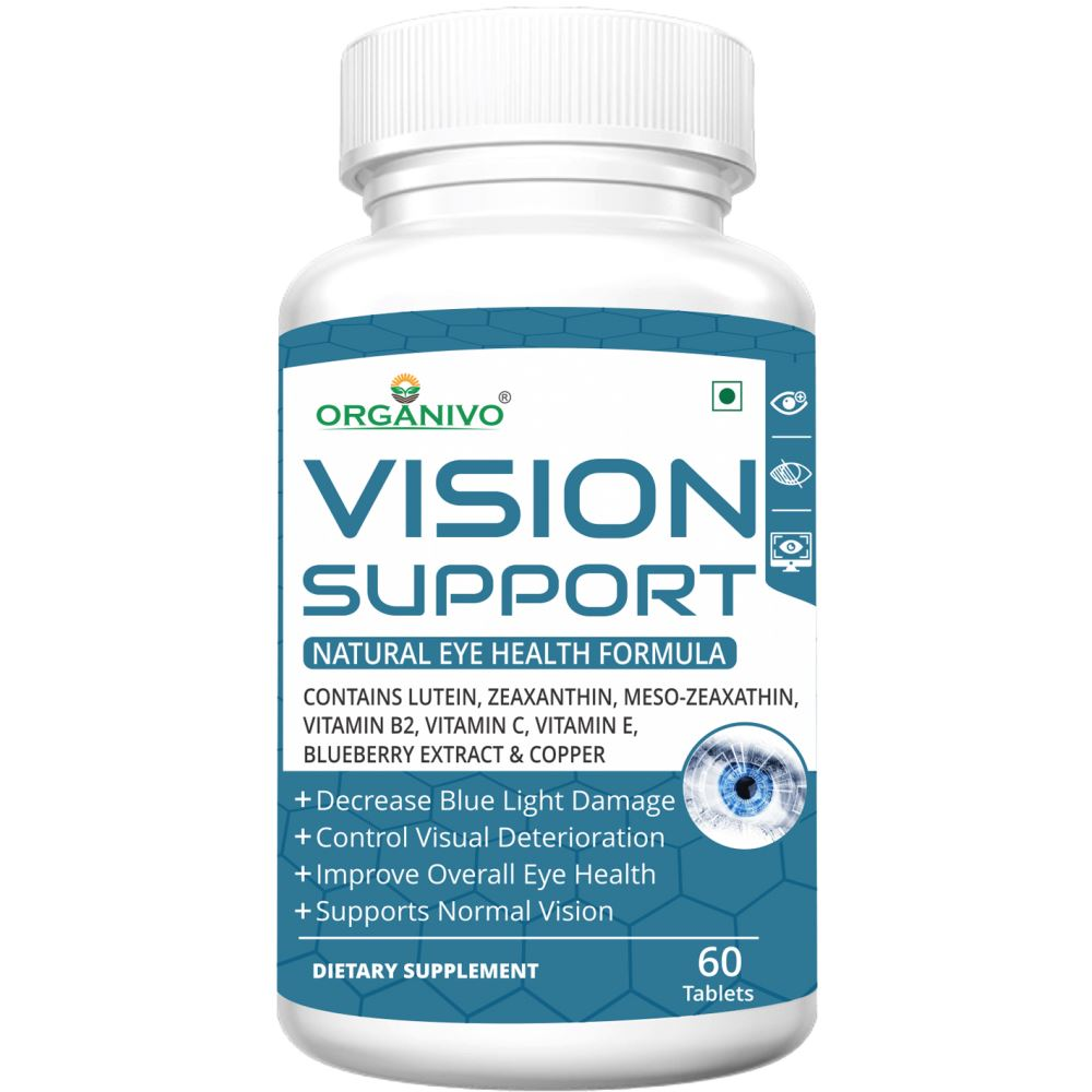 Organivo Vision Support Complete Eye Health Formula Tablets (60tab)