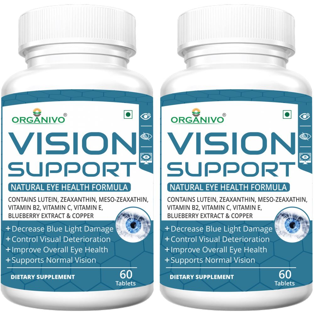 Organivo Vision Support Complete Eye Health Formula Tablets (60tab, Pack of 2)