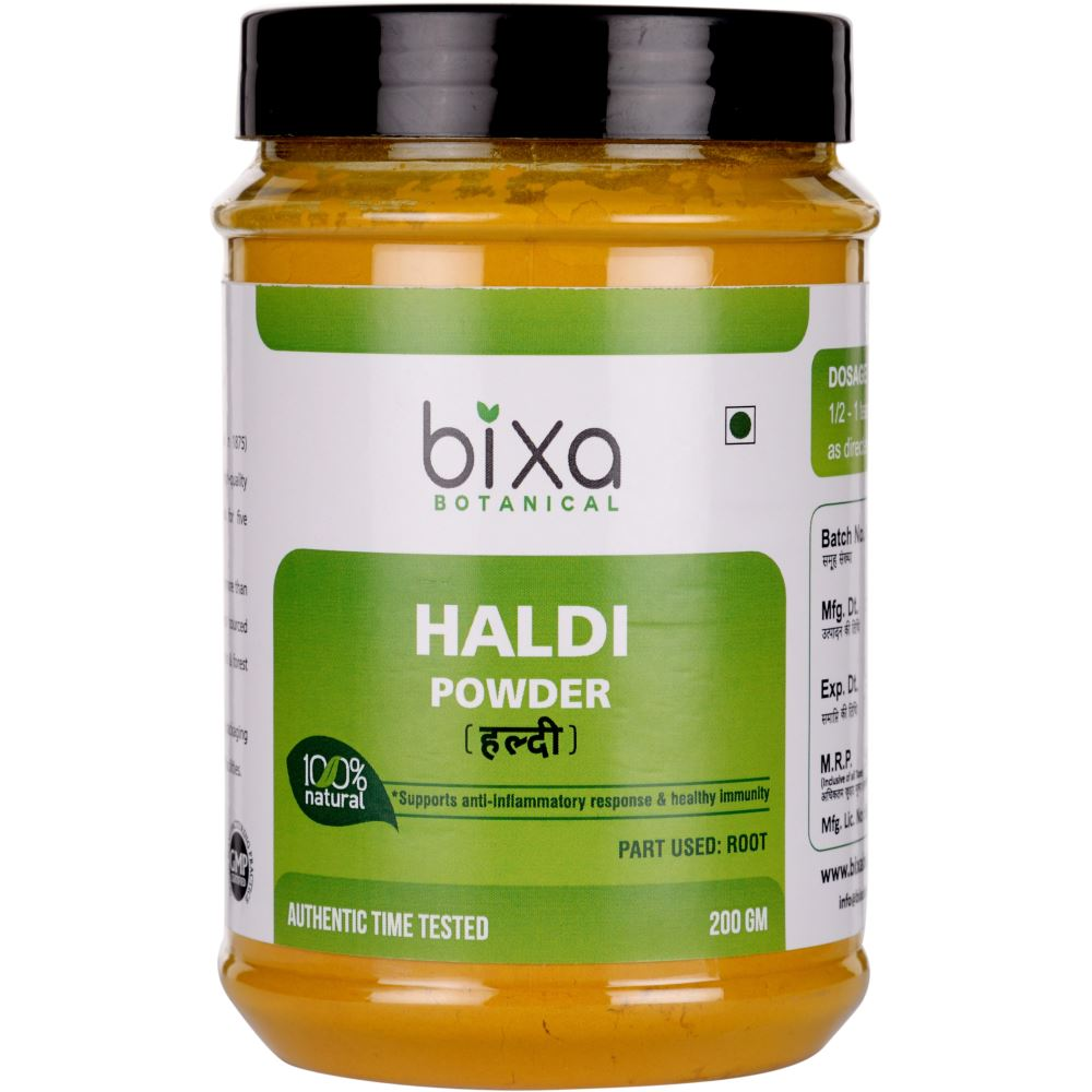 Bixa Botanical Haldi Powder Curcuma Longa (200g)