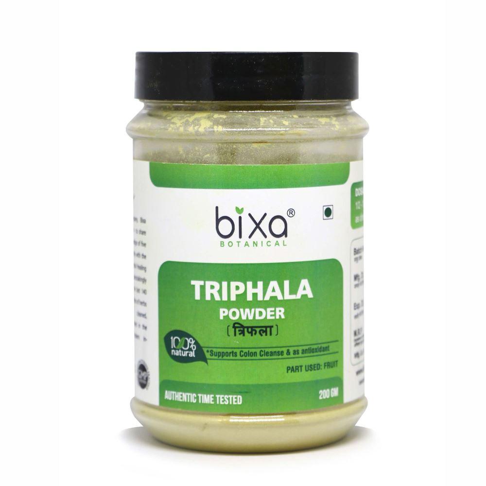 Bixa Botanical Triphala Fruit Powder Amla + Haritaki + Bibhitaki (200g)