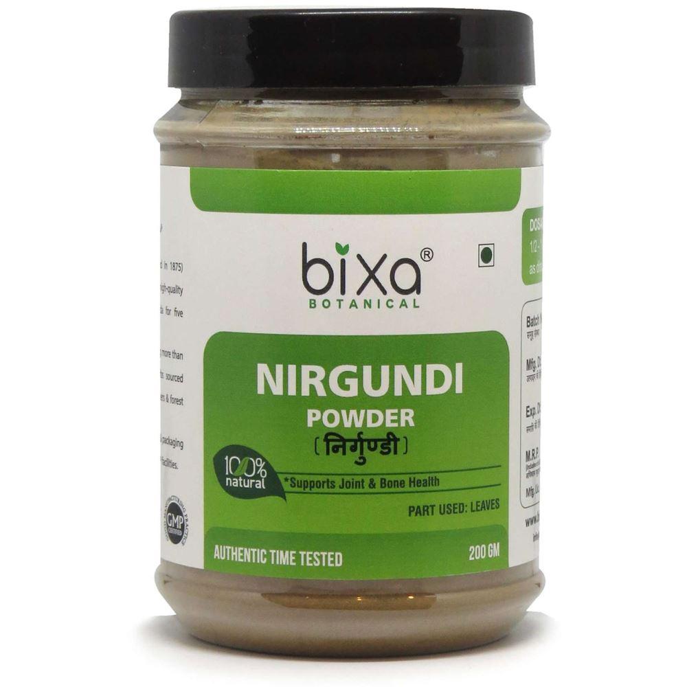 Bixa Botanical Nirgundi Leaves Powder Vitex Negundo (200g)