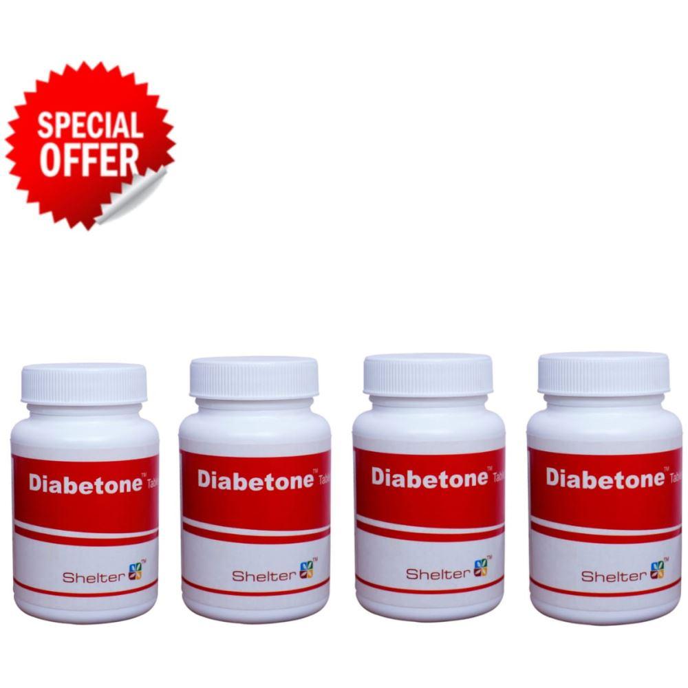 Shelter Diabetone Tablet (100tab, Pack of 4)